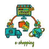 E-commerce design concept Royalty Free Stock Photo