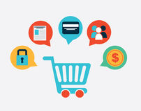 E-commerce  design Stock Photos