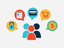 E-commerce design Stock Images