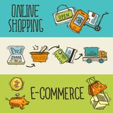 E-commerce design sketch banner Royalty Free Stock Photo