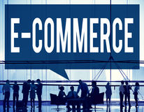 E-commerce Digital Marketing Networking Concept Stock Photos