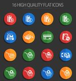 E-commerce 16 flat icons. E-commerce vector icons for web and user interface design vector illustration