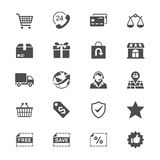 E-commerce flat icons Stock Photos