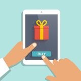 E commerce flat vector background Royalty Free Stock Photo
