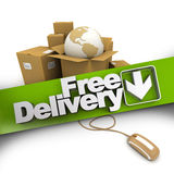 E-commerce free delivery Stock Photography