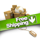 E-commerce free shipping Royalty Free Stock Photo