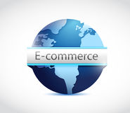 E commerce globe illustration design Royalty Free Stock Image