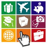 E-commerce grid Royalty Free Stock Images