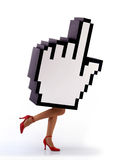 E-commerce hand cursor running Stock Image