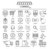 E-commerce icon set. Flat design. Vector Stock Photo