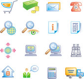 E-Commerce Icon Set (Vector) Royalty Free Stock Photography