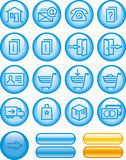 E-Commerce Icon Set (Vector) Royalty Free Stock Images