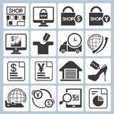 E commerce icons Stock Photos