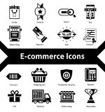E-commerce Icons Black Royalty Free Stock Photography