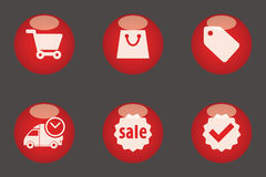 E-commerce icons Stock Photos