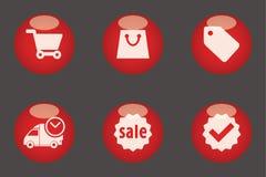E-commerce icons Stock Photos