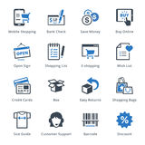 E-commerce Icons Set 3 - Blue Series Stock Images