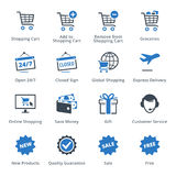 E-commerce Icons Set 2 - Blue Series Royalty Free Stock Image