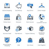E-commerce Icons Set 5 - Blue Series Royalty Free Stock Photos