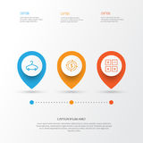 E-Commerce Icons Set. Collection Of Calculation Tool, Finance, Peg And Other Elements. Also Includes Symbols Such As Royalty Free Stock Image