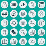 E-Commerce Icons Set. Collection Of Money Transfer, Withdraw Money, Outgoing Earnings And Other Elements. Also Includes Stock Photo