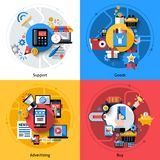 E-commerce Icons Set Royalty Free Stock Photos