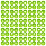 100 e-commerce icons set green. 100 e-commerce icons set in green circle isolated on white vectr illustration vector illustration