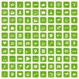 100 e-commerce icons set grunge green. 100 e-commerce icons set in grunge style green color isolated on white background vector illustration royalty free illustration