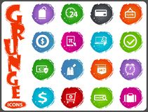 E-commerce icons set in grunge style Stock Image