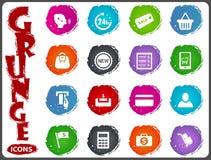 E-commerce icons set in grunge style Royalty Free Stock Image