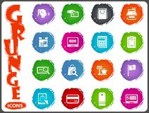E-commerce icons set in grunge style Royalty Free Stock Image