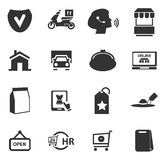 E-commerce icons set Royalty Free Stock Image