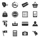 E-commerce icons set Stock Photos