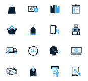 E-commerce icons set. E-commerce icon set for web sites and user interface Royalty Free Stock Image