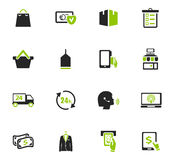 E-commerce icons set. E-commerce icon set for web sites and user interface Royalty Free Stock Photography