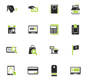 E-commerce icons set Stock Photos