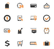 E-commerce icons set. E-commerce icon set for web sites and user interface Stock Photos