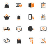E-commerce icons set. E-commerce icon set for web sites and user interface Royalty Free Stock Images