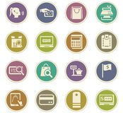E-commerce icons set Royalty Free Stock Images