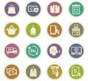 E-commerce icons set. E-commerce icon set for web sites and user interface Stock Images