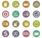 E-commerce icons set. E-commerce icon set for web sites and user interface Stock Photography