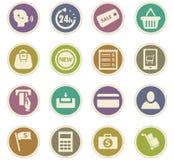 E-commerce icons set Stock Photography