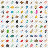 100 e-commerce icons set, isometric 3d style Royalty Free Stock Photography