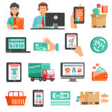 E-commerce Icons Set Stock Photography