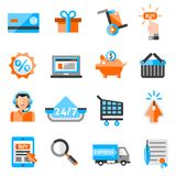 E-commerce Icons Set Stock Images