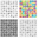 100 e-commerce icons set vector variant. 100 e-commerce icons set vector in 4 variant for any web design isolated on white Stock Illustration