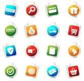 E-commerce icons set Royalty Free Stock Photography
