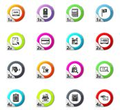 E-commerce icons set. E-commerce web icons for user interface design Stock Photography