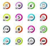 E-commerce icons set. E-commerce web icons for user interface design Stock Photos