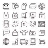 E commerce icons. Set of 25 e commerce icons on white background Royalty Free Stock Photo